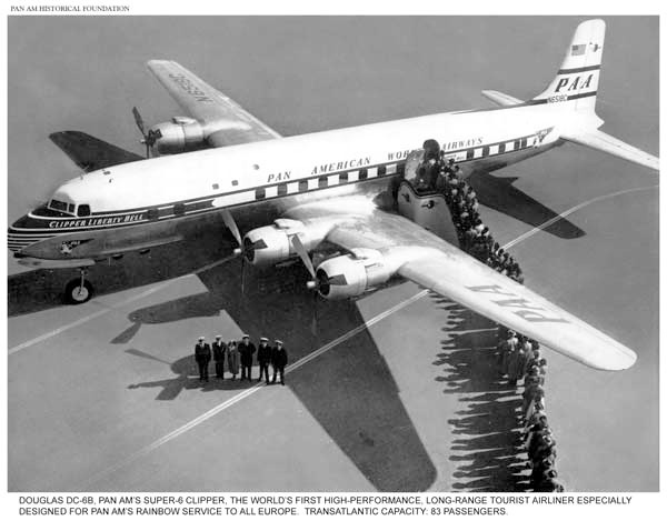 Pan Am DC 6B Rainbow Service