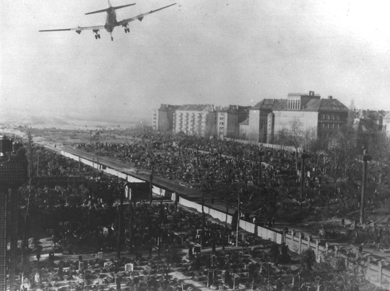 C 54 landing approach at Tempelhof Truman Library Collection