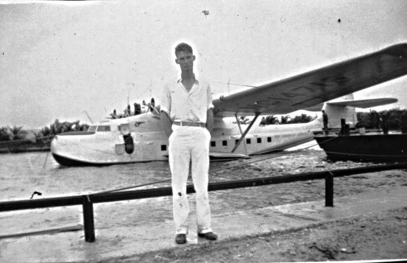 Bill Taylor with China Clipper on Guam