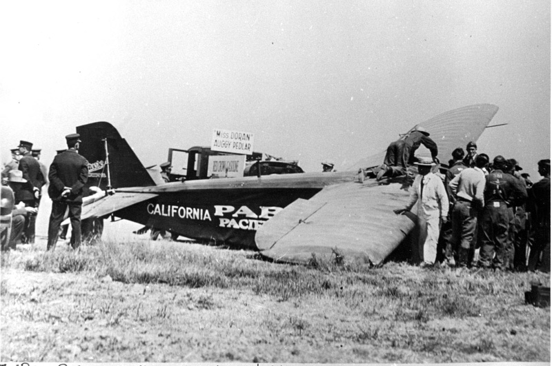 Crash of Maj Livingston Irving in the Pabco Pacific Flyer
