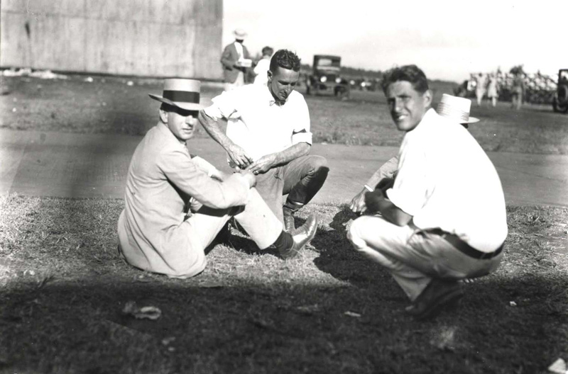 James D. Dole at the Dole Air Race, August 17, 1927
