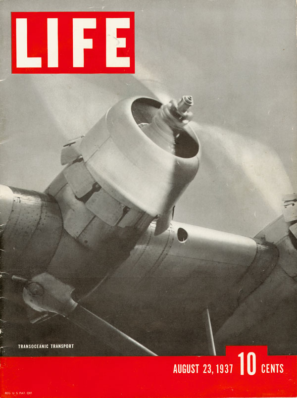 1937 Pan Am Martin M 130 Life Magazine Cover