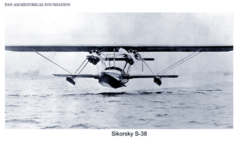 Pan Am Sikorsky s38 in flight