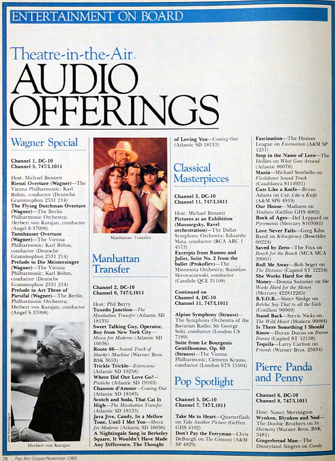 Pan Am Theatre in the Air audio 1983