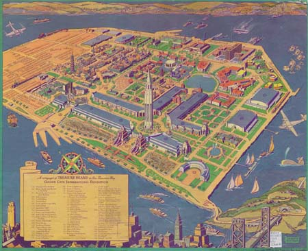 02 18 1939 Golden Gate International Exposition map