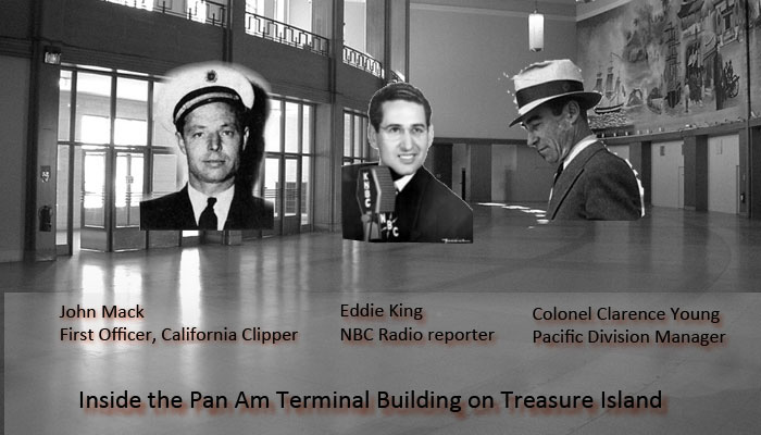 Inside the Pan Am Treasure Island Terminal, 1941, composite photo