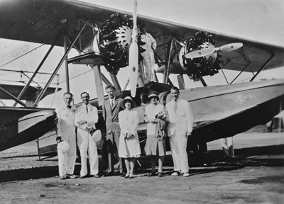 Lindberghs and Trippes on the Paramaribo trip September 1929