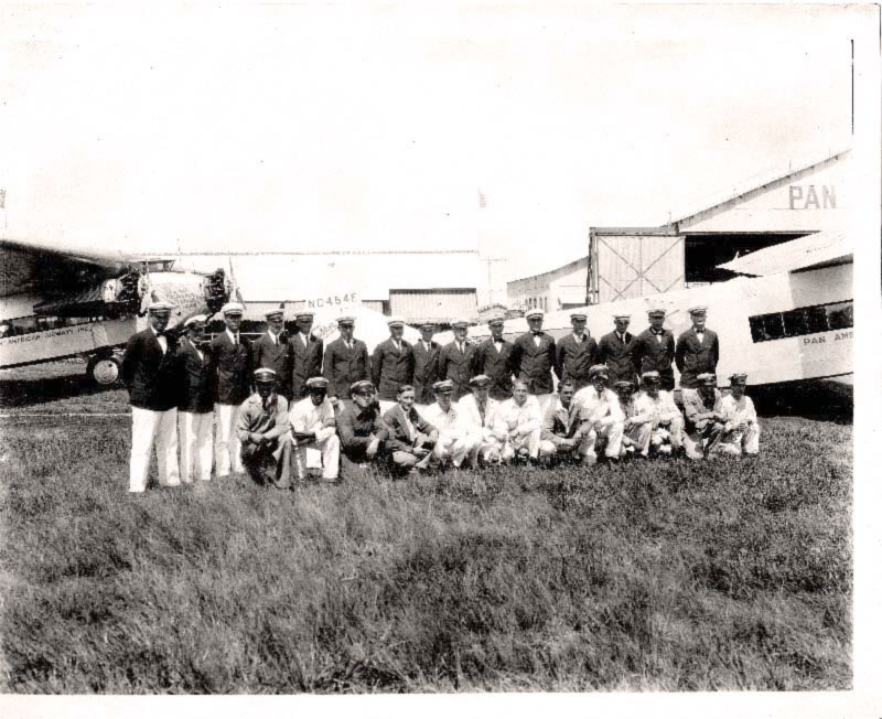 Pan Am employees in Havana about 1930