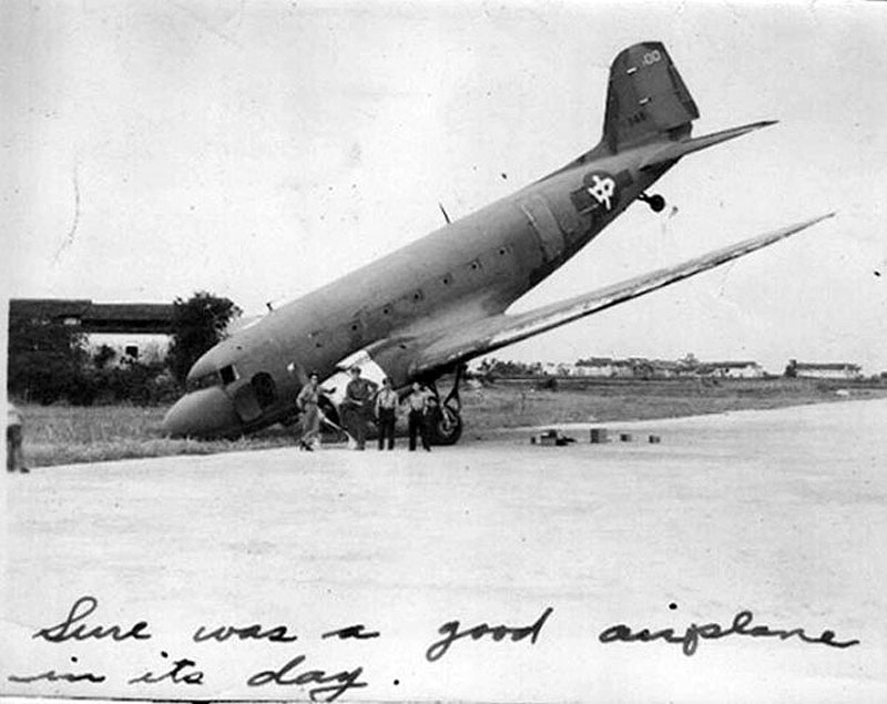 CNAC #100 wartime mishap 1945