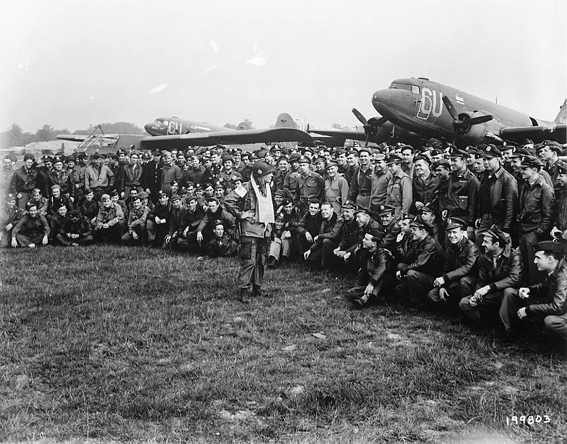 C 47 Group Before Normandy 101st Airborne on D Day June 6 1944