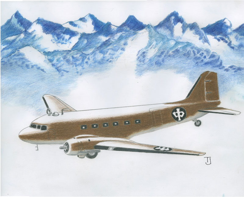 CNAC C 47 over the Hump, courtesy T. Johnson