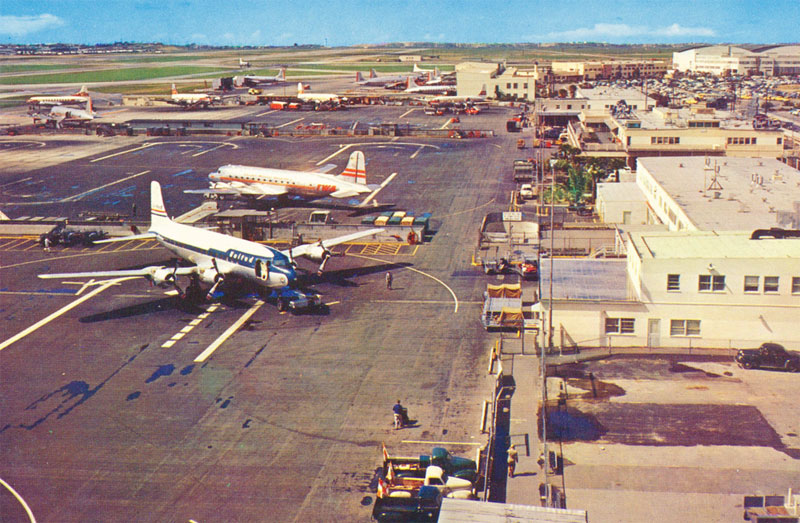 Postcard of Los Angeles Airport c. 1950s