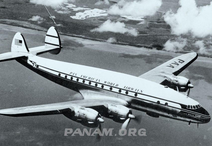Pan Am Lockheed L 049 Constellation in flight