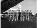 A class of Pan Am flight attendants poses for group photo, 1950s