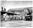 Pan Am troops board Douglas DC-4 at Travis Air Force Base, during the Korean War