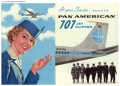 Pan Am Ad: At Your Service, Aboard a Pan American 707 Jet Clipper