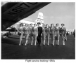 Class of Pan Am stewardesses pose for group photograph 1950s