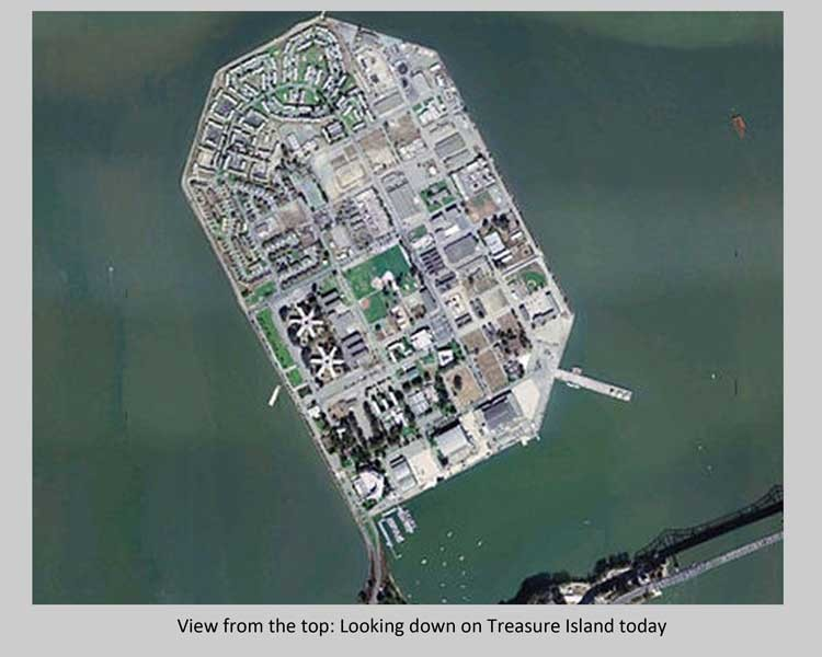 Treasure Island, aerial view