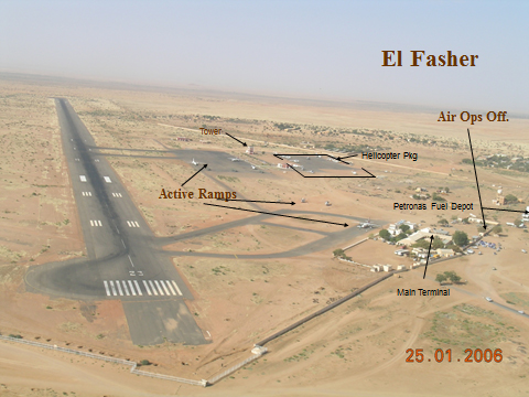 Graphic of El Fasher airfield