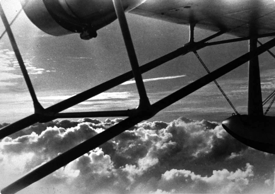 View from Sikorsky S-42 in flight