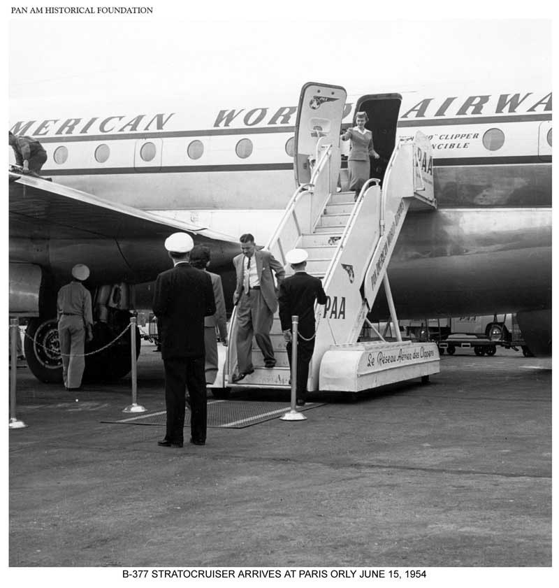 Pan Am Boeing B-377 Stratocruiser in Paris, Orly, 1954