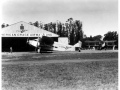 Pan American Grace Airways (Panagra) Hangar and Ford TriMotor, 1930s.